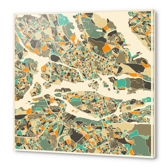 STOCKHOLM MAP 1 Acrylic prints by Jazzberry Blue