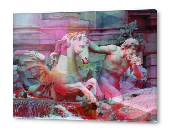 Trevi Fountain Acrylic prints by Vic Storia