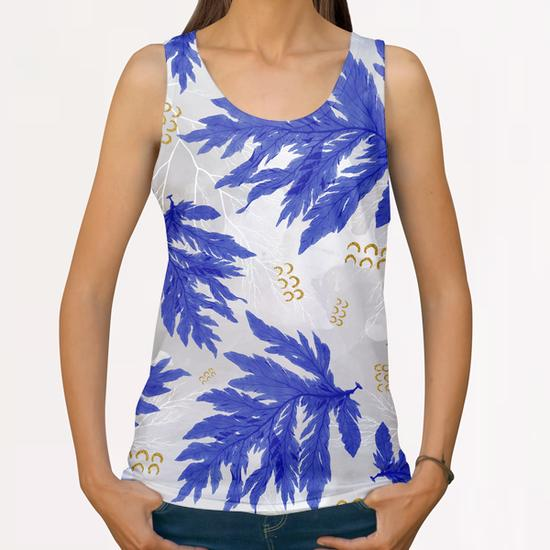 Coral Blue All Over Print Tanks by mmartabc