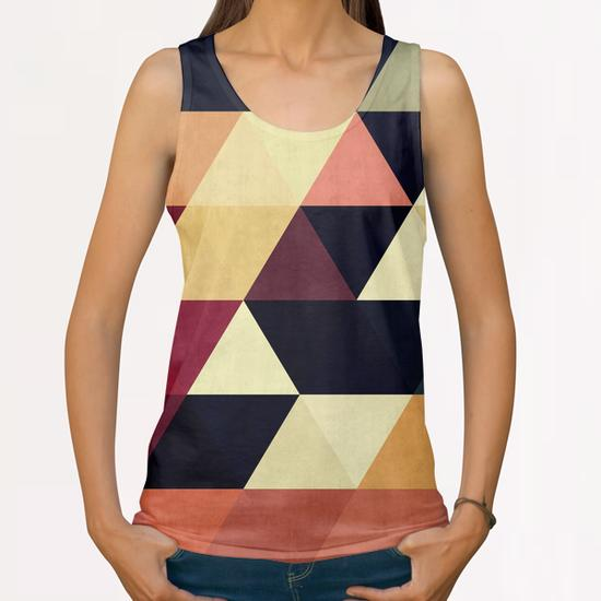 Pattern cosmic triangles All Over Print Tanks by Vitor Costa