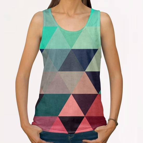 Pattern cosmic triangles I All Over Print Tanks by Vitor Costa