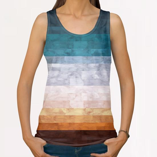 Minimalist landscape watercolor All Over Print Tanks by Vitor Costa