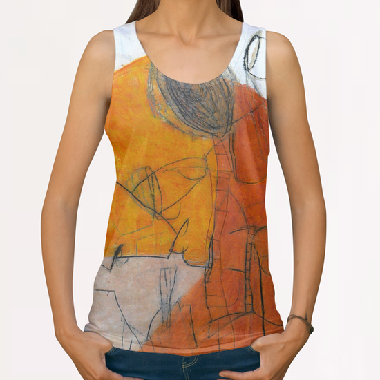 Composition 8 All Over Print Tanks by Jean-Noël Bachès
