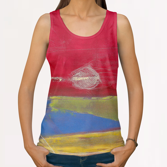 Coucher de Soleil All Over Print Tanks by Pierre-Michael Faure