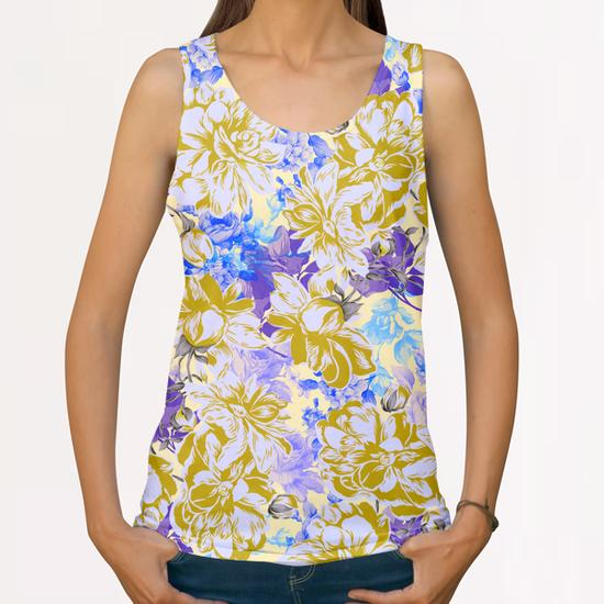 FLOWERY II All Over Print Tanks by mmartabc