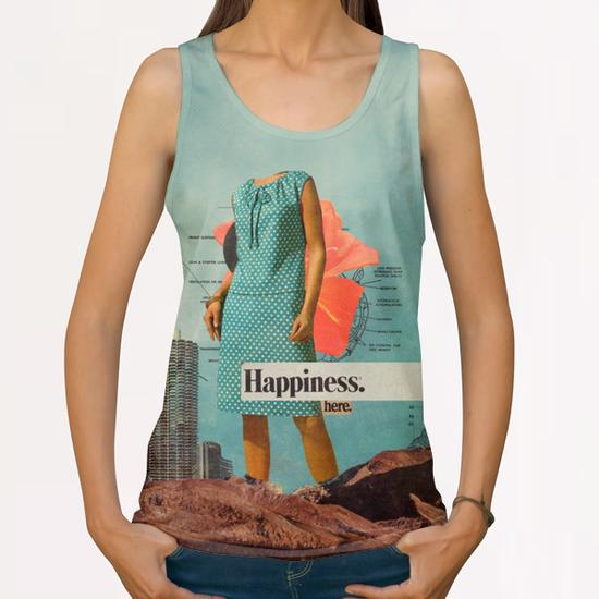 Happiness Here All Over Print Tanks by Frank Moth
