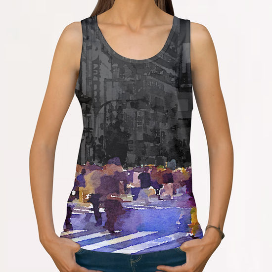 One evening in Tokyo All Over Print Tanks by Malixx