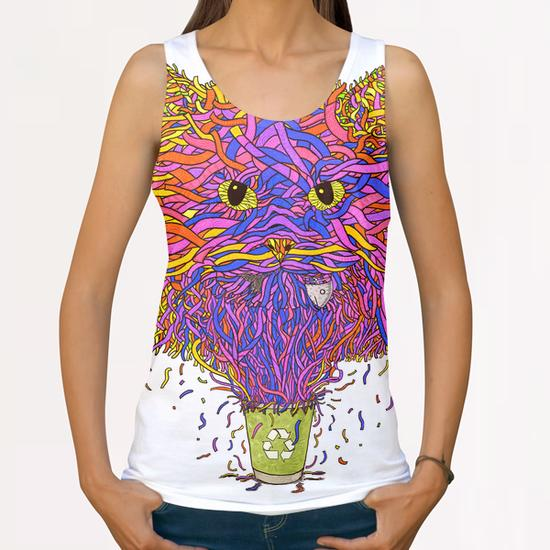Recycle cat All Over Print Tanks by Tummeow