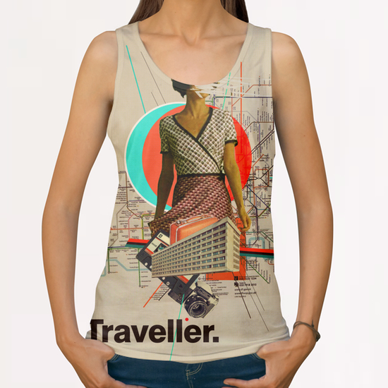 Traveller All Over Print Tanks by Frank Moth