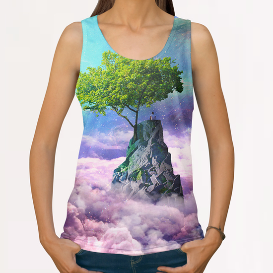spectator of worlds All Over Print Tanks by Seamless