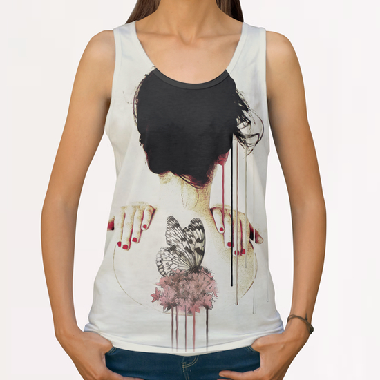 Portrait - Backage All Over Print Tanks by Galen Valle