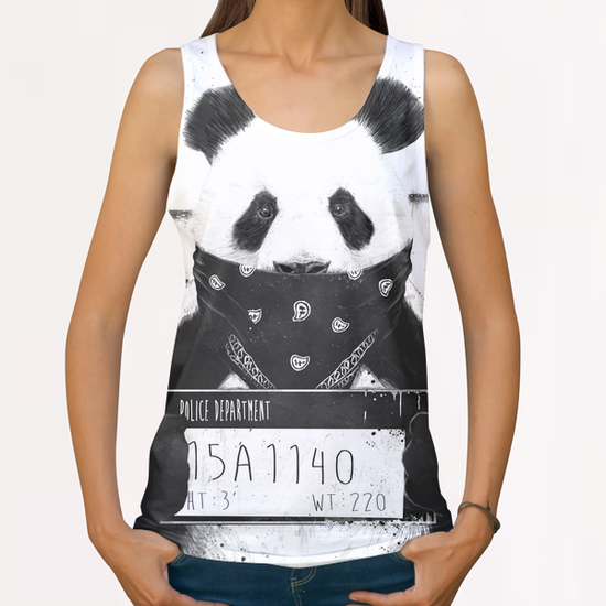 Bad panda All Over Print Tanks by Balazs Solti