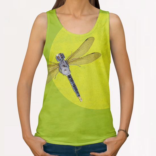Mecanical Dragonfly All Over Print Tanks by tzigone