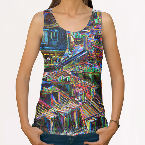 Roofs in Paris All Over Print Tanks by Malixx