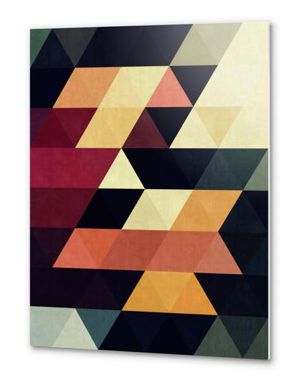 Pattern cosmic triangles Metal prints by Vitor Costa