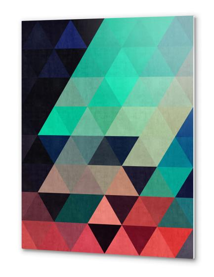 Pattern cosmic triangles I Metal prints by Vitor Costa