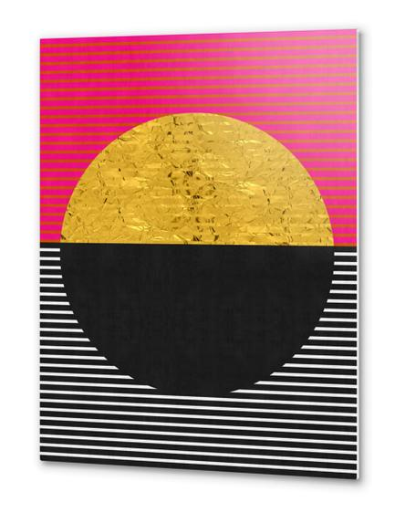 Geometric and golden art Metal prints by Vitor Costa