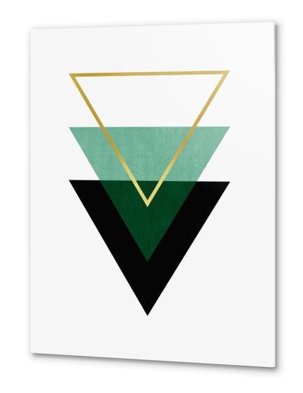 Geometric and golden art I Metal prints by Vitor Costa