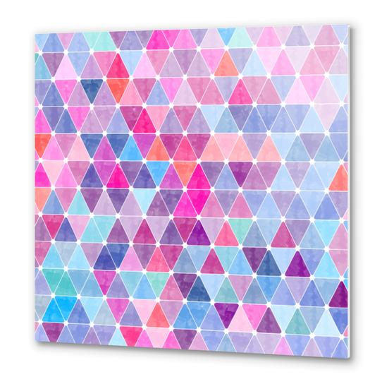 Colorful Geometric II Metal prints by Amir Faysal