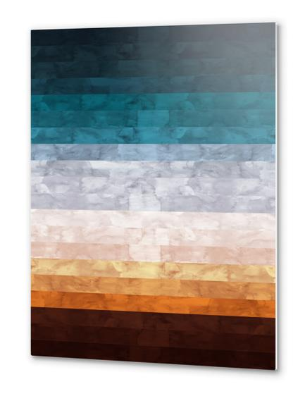 Minimalist landscape watercolor Metal prints by Vitor Costa
