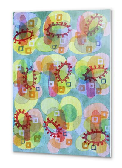 Lovely Pattern with Red Rings  Metal prints by Heidi Capitaine