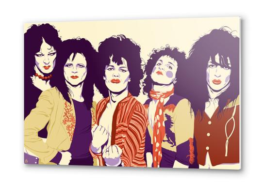 NEW YORK DOLLS Metal prints by Francis le Gaucher