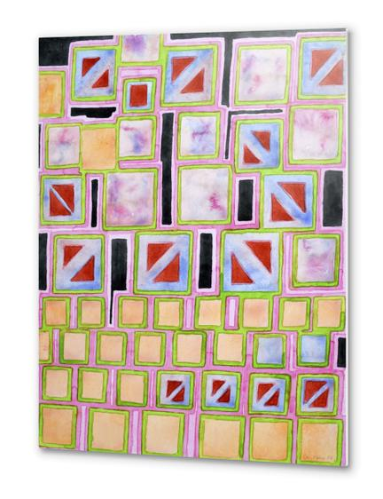 Composition out of Three Kind of Squares Metal prints by Heidi Capitaine