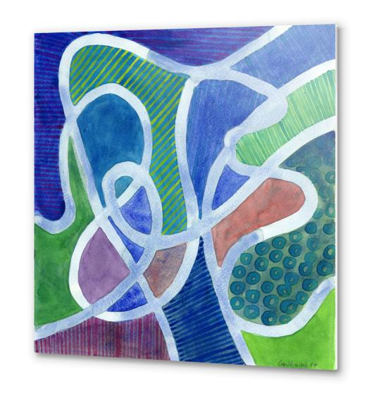 Curved Paths Metal prints by Heidi Capitaine