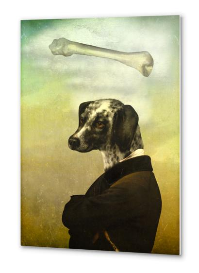 A Dog's Dream Metal prints by DVerissimo