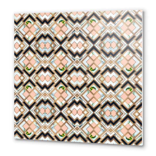 Art deco geometric pattern Metal prints by mmartabc