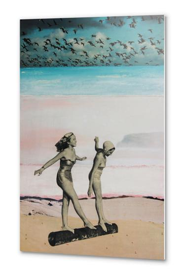 BEACH GIRLS Metal prints by db Waterman