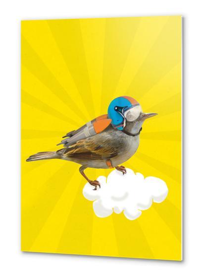 Rocket Bird Metal prints by tzigone