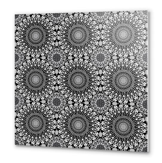 Calligraphy (Black&White) Metal prints by vannina