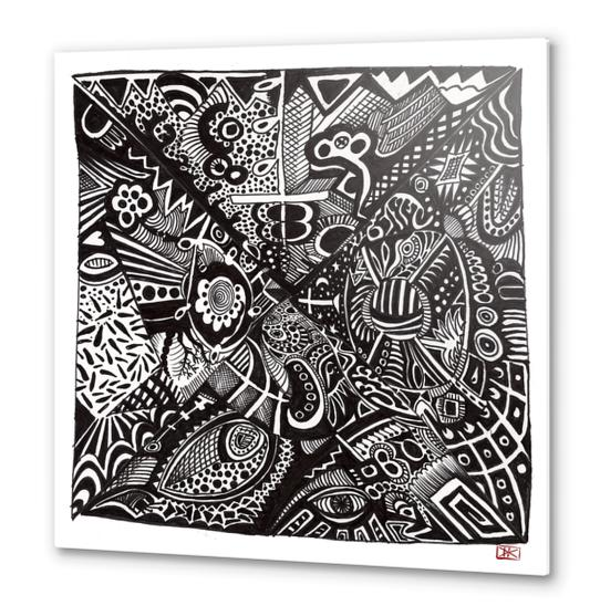 Mandala personnel Metal prints by Denis Chobelet