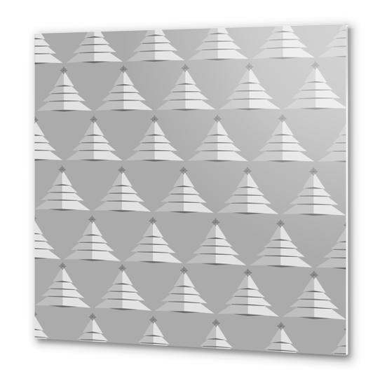 Grey Christmas by PIEL Metal prints by PIEL Design