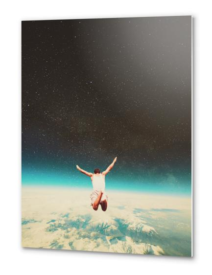 Falling With A Hidden Smile Metal prints by Frank Moth