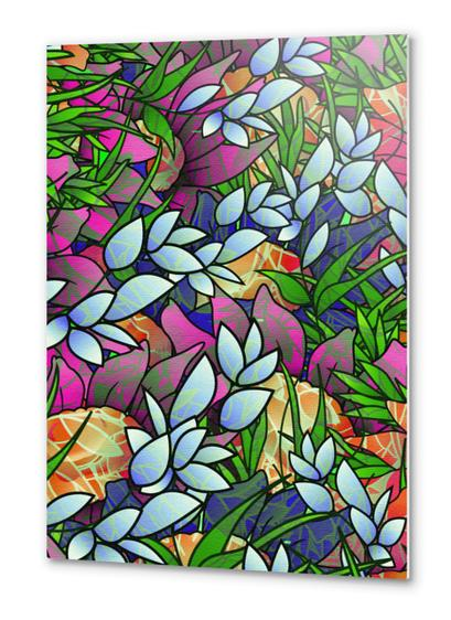 Floral Abstract Artwork G464 Metal prints by MedusArt