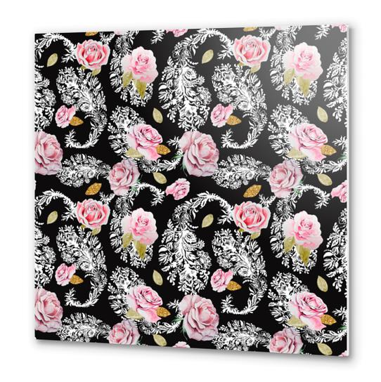 Flowering roses in the paisley Metal prints by mmartabc