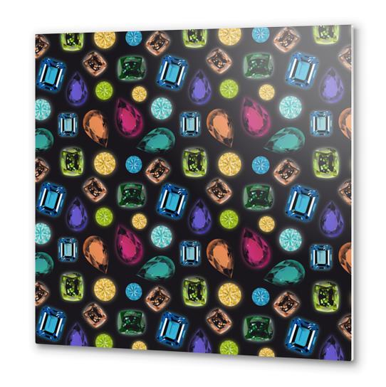 Gemstones Metal prints by vannina