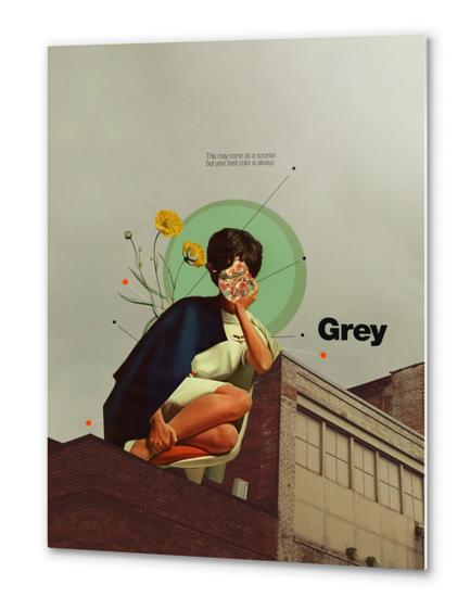 Grey Metal prints by Frank Moth