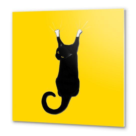 Hang Cat Metal prints by Tummeow