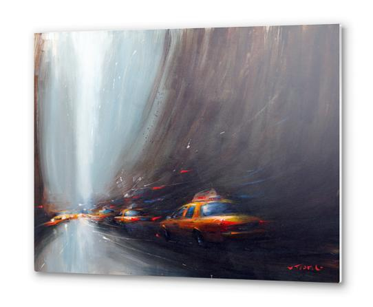 Taxi sliders Metal prints by Vantame