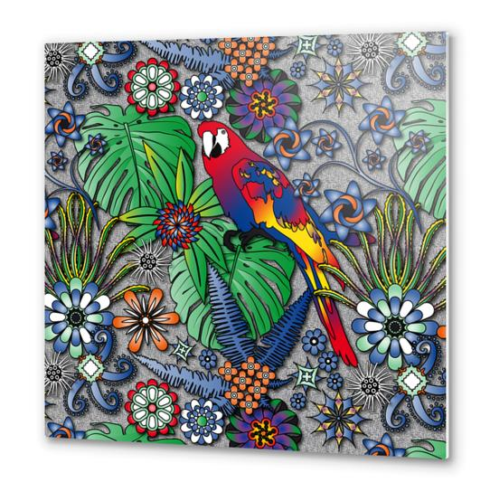 Jungle Flowers Metal prints by vannina