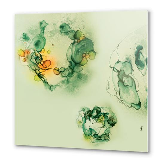 Light 3 - Green Metal prints by darling