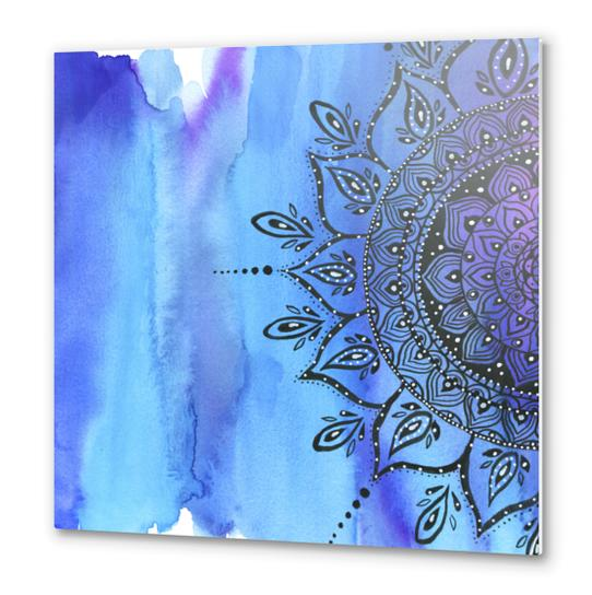 Blue Mandala Metal prints by Li Zamperini