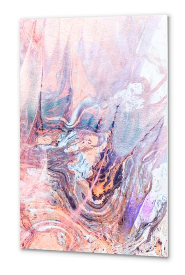 Multicolored saturated marble Metal prints by mmartabc