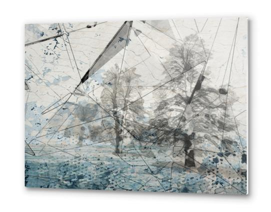 Blue Crystal Forest Metal prints by Irena Orlov