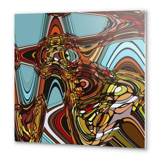 Retro Ondulation Metal prints by Vic Storia