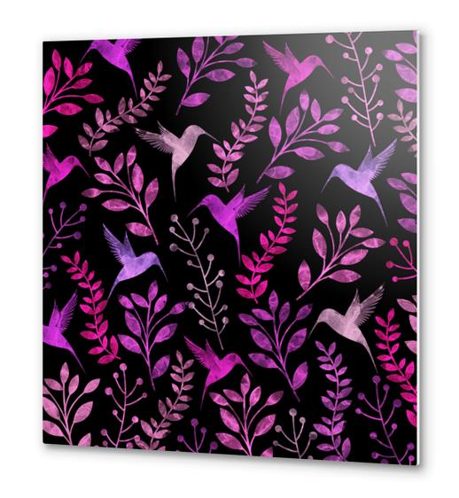 Watercolor Floral and Bird  Metal prints by Amir Faysal
