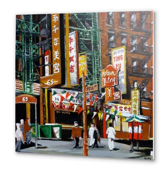 quartier chinois new york Metal prints by Koen De Weerdt